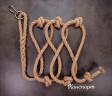 Веревка для лазания Лемур джутовая с кольцом и карабином
