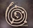 Веревка для лазания Лемур хлопчатобумажная с кольцом и карабином