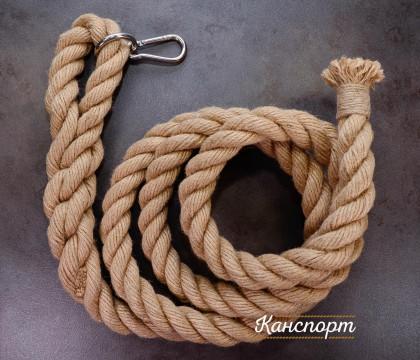Канат для лазания Лемур джутовый с кольцом и карабином