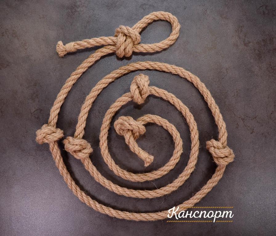 Веревка для лазания джутовая