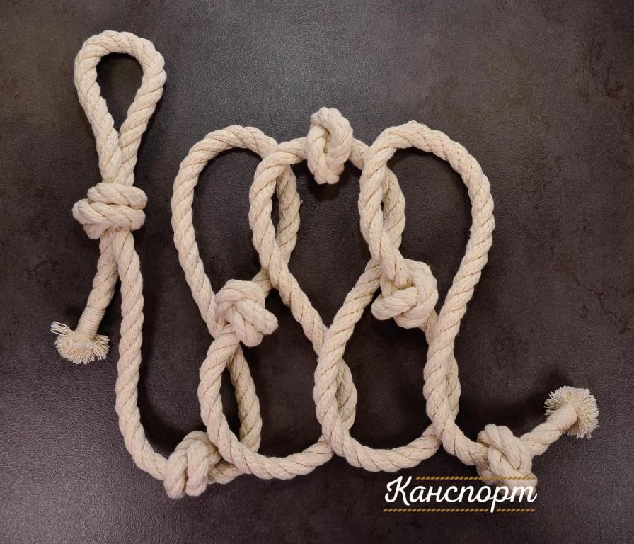 Веревка для лазания хлопчатобумажная